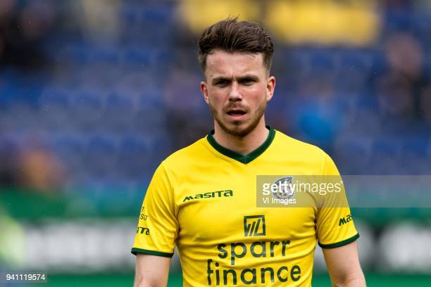 Jorrit Smeets of Fortuna Sittard during the Jupiler League match between Fortuna Sittard and Helmond Sport at the Fortuna Sittard Stadium on April 02...