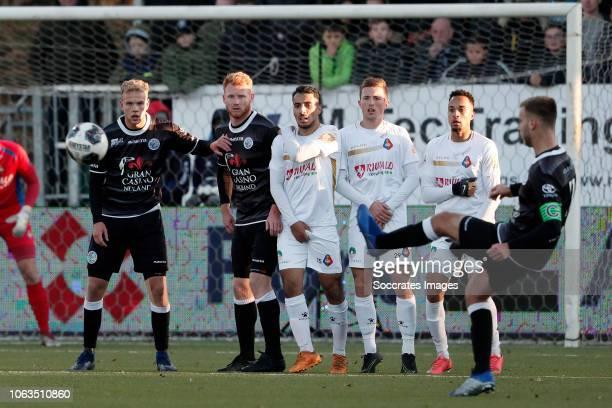 Jort van der Sande of FC Den Bosch Anass Najah of Telstar Sven van Doorm of Telstar Elso Brito of Telstar Danny Verbeek of FC Den Bosch during the...