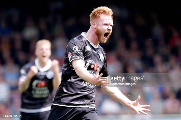 Jort van der Sande of FC Den Bosch celebrates goal during the Dutch Keuken Kampioen Divisie match between Go Ahead Eagles v FC Den Bosch at the De...