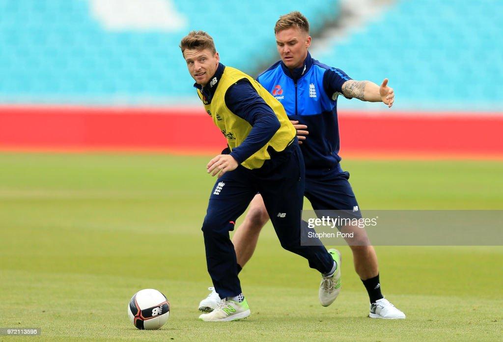 England & Australia Net Sessions : News Photo