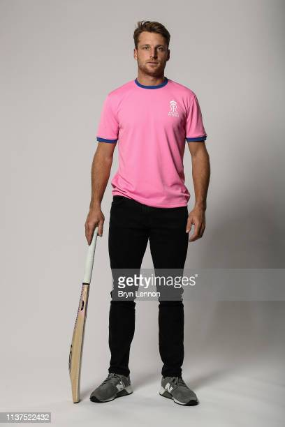 Jos Buttler of England and Rajasthan Royals poses for a photo on March 18, 2019 in Hammersmith, England.
