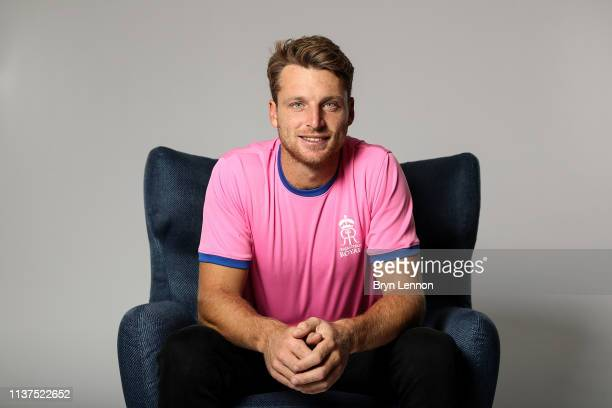 Jos Buttler of England and Rajasthan Royals poses for a photo on March 18 2019 in Hammersmith England