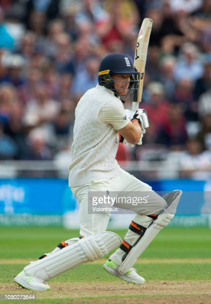 Jos Buttler of England bats during day two of the Specsavers 3rd Test match between England and India at Trent Bridge on August 19 2018 in Nottingham...