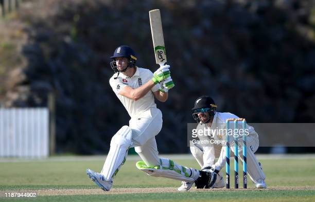Jos Buttler of England bats during day two of the tour match between New Zealand A and England at Cobham Oval on November 16, 2019 in Whangarei, New...