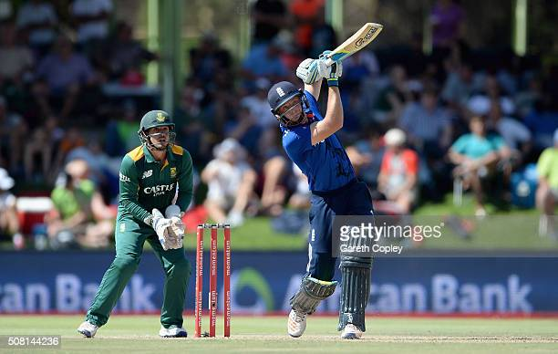 Jos Buttler of England bats during the 1st Momentum ODI match between South Africa and England at Mangaung Oval on February 3 2016 in Bloemfontein...