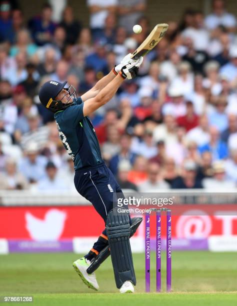Jos Buttler of England bats during the 3rd Royal London ODI match between England and Australia at Trent Bridge on June 19 2018 in Nottingham England