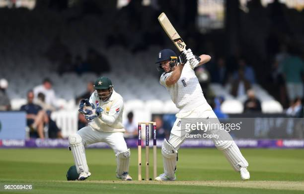 Jos Buttler of England bats during the NatWest 1st Test match between England and Pakistan at Lord's Cricket Ground on May 24 2018 in London England