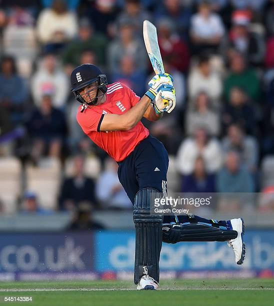 Jos Buttler of England bats during the Natwest International T20 match between England and Sri Lanka at Ageas Bowl on July 5 2016 in Southampton...