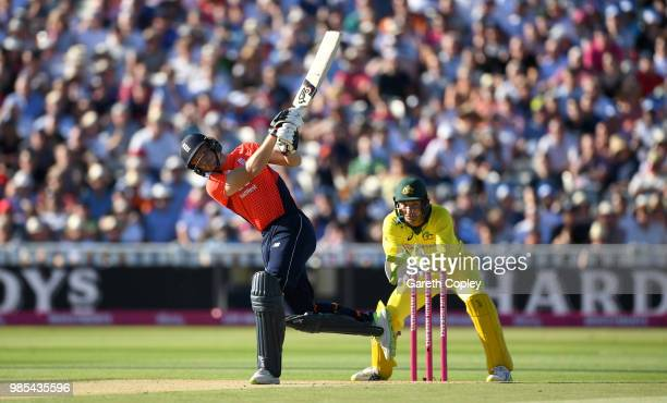 Jos Buttler of England bats during the Vitality International T20 between England and Australia at Edgbaston on June 27 2018 in Birmingham England
