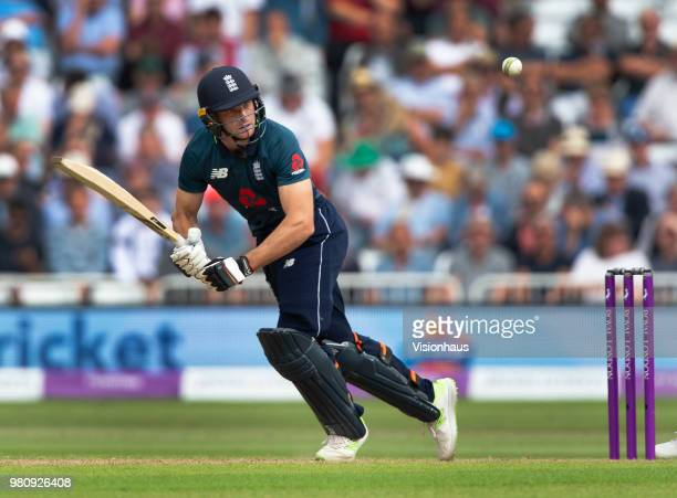 Jos Buttler of England batting during the 3rd Royal London ODI match between England and Australia at Trent Bridge on June 19 2018 in Nottingham...