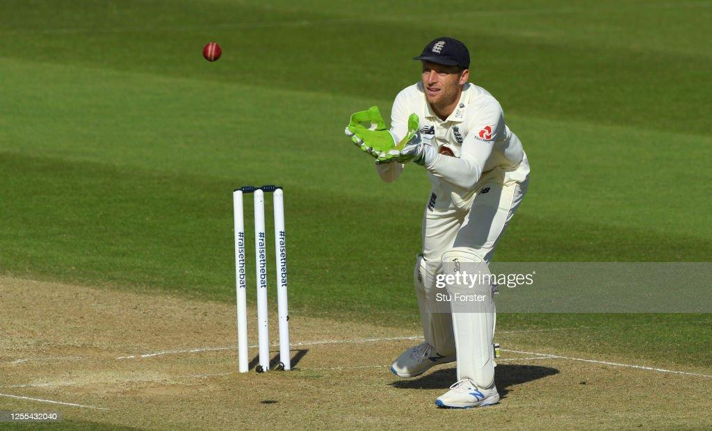 England v West Indies: Day 3 - First Test #RaiseTheBat Series : News Photo
