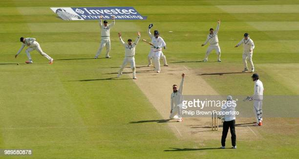 Jos Buttler of England is trapped LBW for 73 runs by Mark Craig of New Zealand and New Zealand win the 2nd Test match against England by 199 runs at...