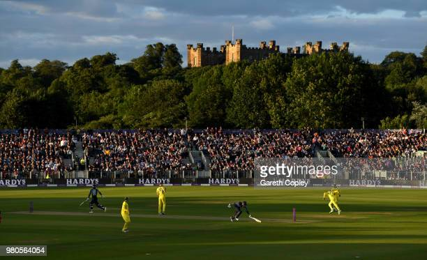 Jos Buttler of England makes his ground during the 4th Royal London One Day International between England and Australia at Emirates Durham ICG on...