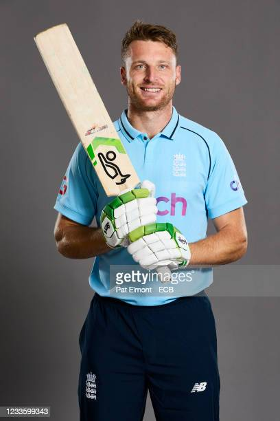 Jos Buttler of England poses during a portrait session at Sophia Gardens on June 20, 2021 in Cardiff, Wales.