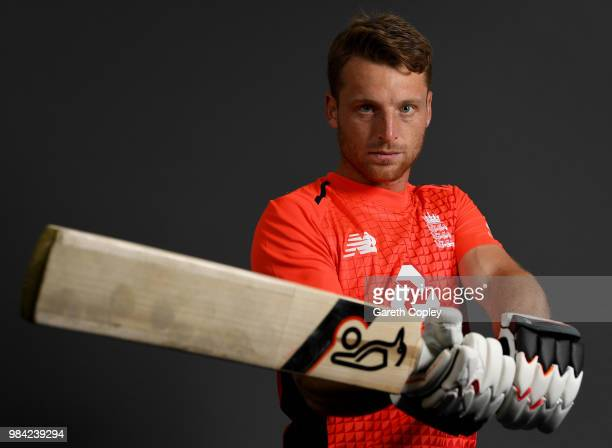 Jos Buttler of England poses for a portrait at Edgbaston on June 26 2018 in Birmingham England