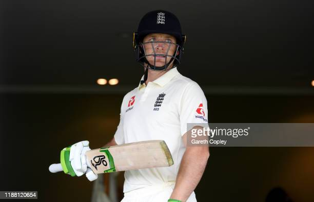 Jos Buttler of England prepares to bat during day three of the tour match between New Zealand A and England at Cobham Oval on November 17, 2019 in...