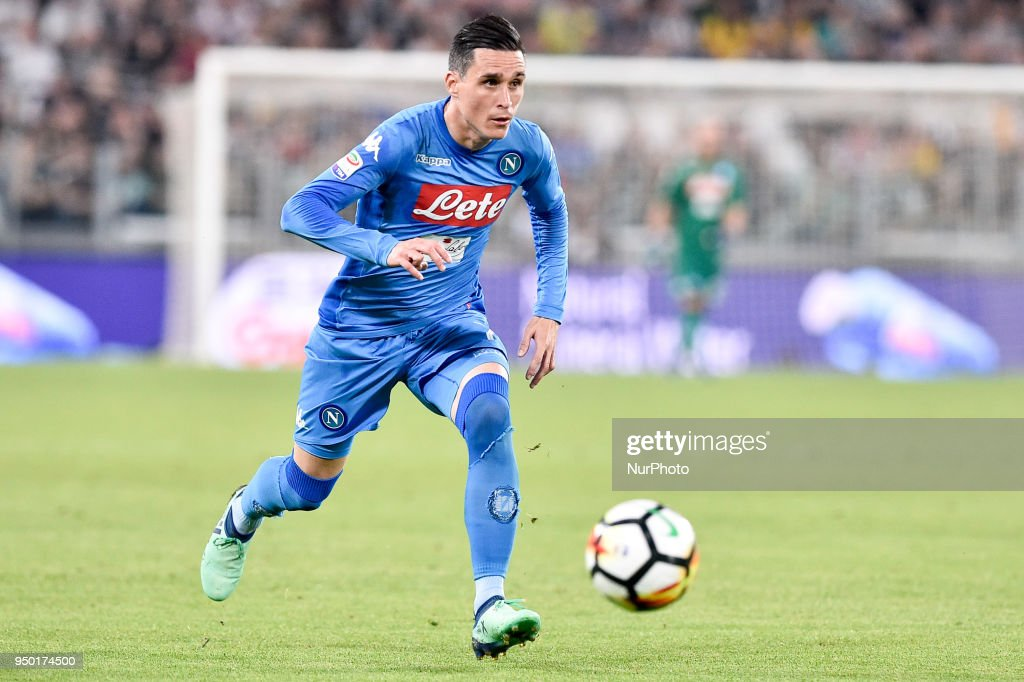 Jos Callejn of Napoli during the Serie A match between Juventus and Napoli at Allianz Stadium, Turin, Italy on 22 April 2018.