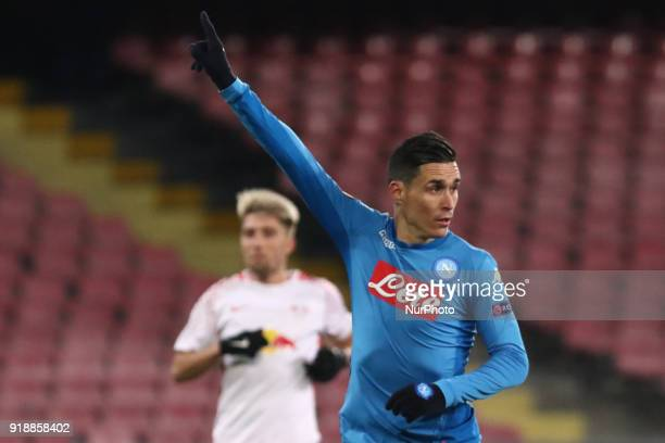 Jos Callejon during the Europe Ligue football SSC Napoli v RB Leipzing at S Paolo Stadium in Naples on February 15 2018