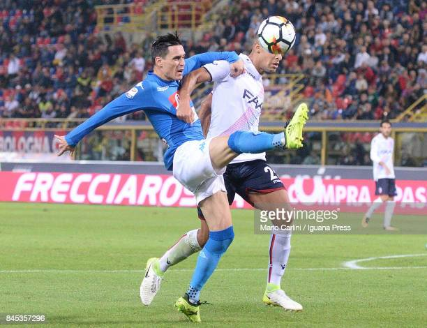 Jos Callejon in action during the Serie A match between Bolgna FC and SSC Napoli at Stadio Renato Dall'Ara on September 10 2017 in Bologna Italy 210