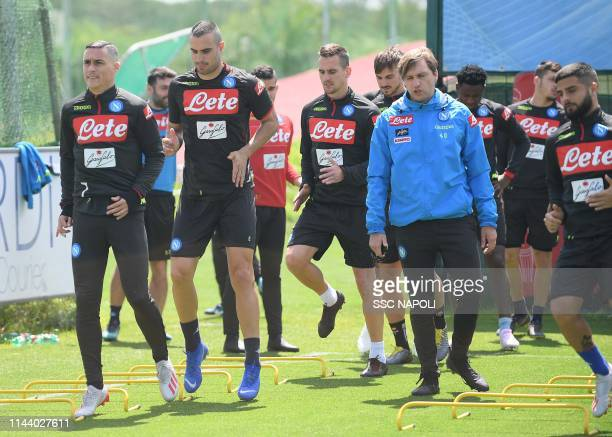 José Callejon of Napoli in action during an SSC Napoli Training Session on May 16 2019 in Naples Italy