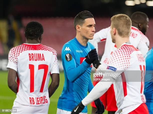 STADIUM NAPLES CAMPANIA ITALY Josè Callejon of SSC Napoli before the UEFA Europa League match between SSC Napoli and RB Lipsia at San Paolo Stadium