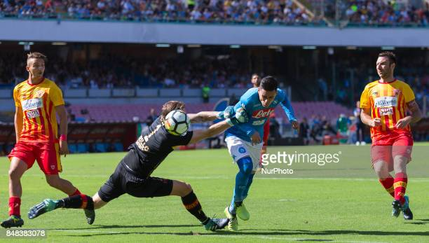 Josè Callejon of SSC Napoli in action during the Italian Serie A match between SSC Napoli and Benevento at San Paolo Stadium on September 17 2017