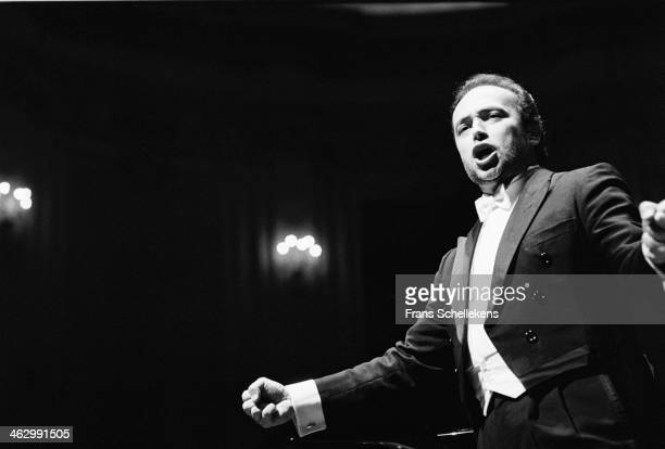 José Carreras vocal performs at the Concertgebouw on 14th March 1990 in Amsterdam the Netherlands