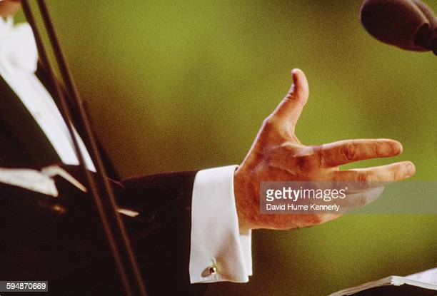 José Carreras's expressive hand at The Three Tenors concert at Dodger Stadium July 16 1994 in Los Angeles The concert is programmed to coincide with...
