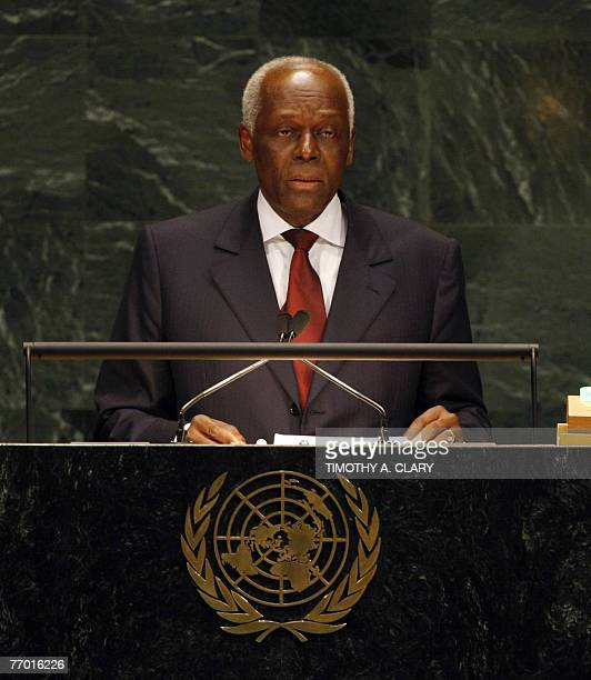 Jos Eduardo dos Santos President of the Republic of Angola addresses the 62nd session of the United Nations General Assembly at the UN in New York 25...