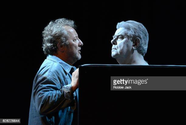 José Fardilha as Leporello and Kristinn Sigmundsson as Commendatore in Budapest Festival Orchestra and Müpa Budapest's production of Wolfgang Amadeus...
