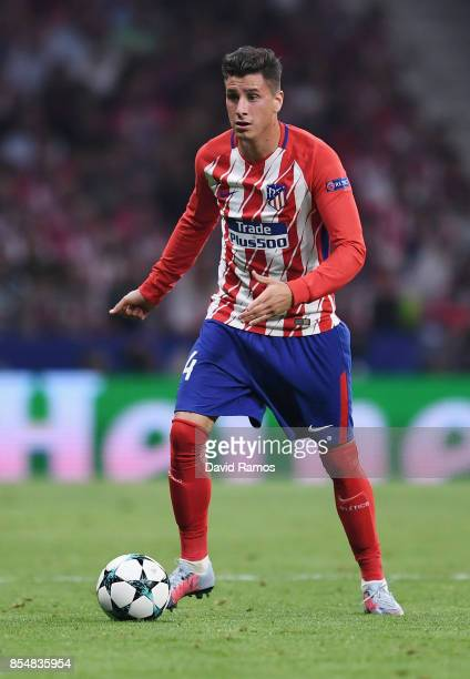 José Gimenez of Atletico Madrid in action during the UEFA Champions League group C match between Atletico Madrid and Chelsea FC at Estadio Wanda...
