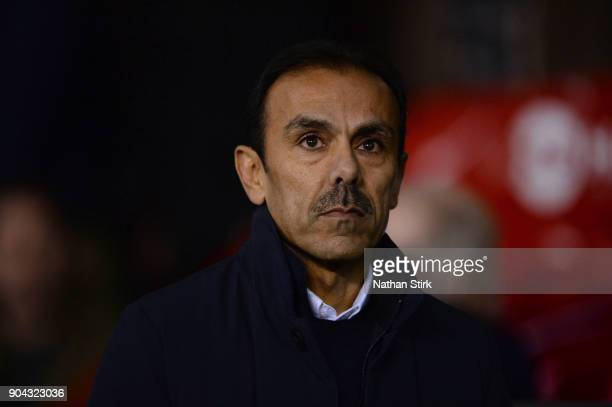 Jos Luhukay manager of Sheffield Wednesday looks on during the Sky Bet Championship match between Sheffield United and Sheffield Wednesday at Bramall...