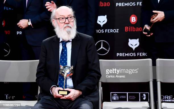 José Luis Cuerda receives the Honorary Award at the Feroz Awards on January 19 2019 in Bilbao Spain