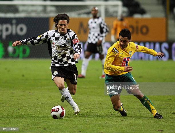 José Manuel and Rodrigo Tello during a Portuguese Bwin League 16th round match between Boavista and Sporting in Porto Portugal on January 28 2007