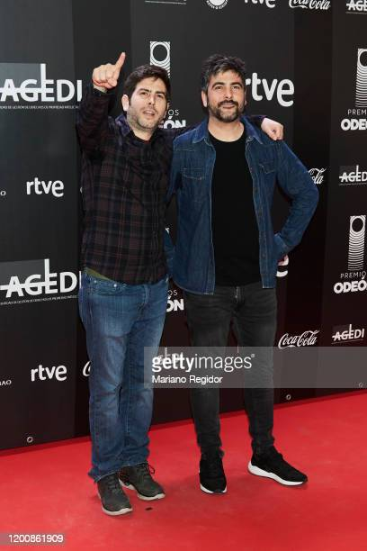 José Manuel Muñoz and David Muñoz from the band Estopa attend Odeon Awards 2020 at Royal Theater on January 20 2020 in Madrid Spain