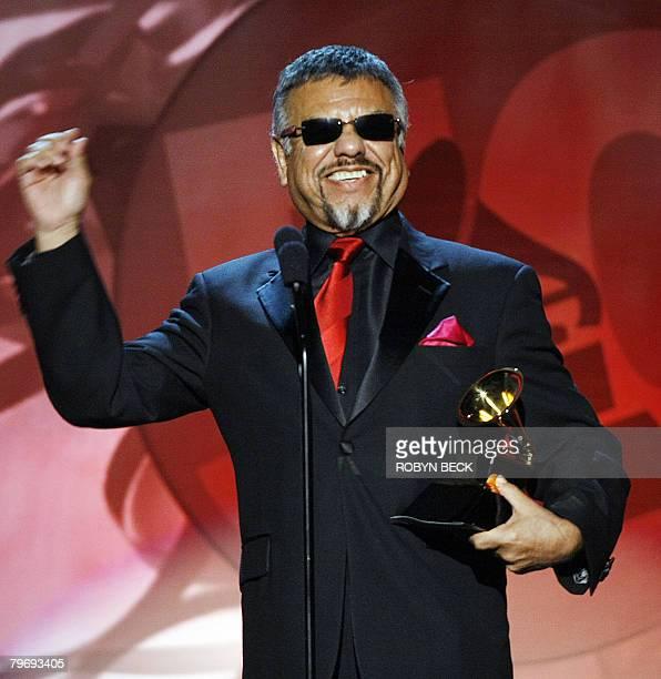 "Jos? Mar?a De Le?n Hern?ndez of Little Joe & La Familia accepts the award in the Best Tejano Album category for ""Before The Next Teardrop Falls""..."