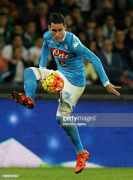 Jos Maria Callejon of Napoli during the Serie A match between SSC Napoli and Udinese Calcio at Stadio San Paolo on November 8 2015 in Naples Italy