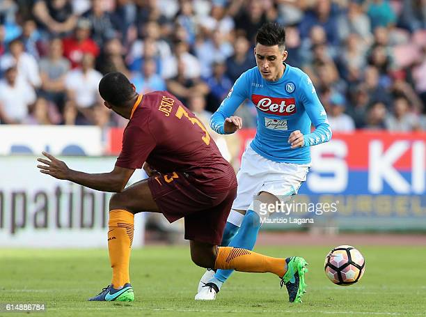 Josè Maria Callejon of Napoli during the Serie A match between SSC Napoli and AS Roma at Stadio San Paolo on October 15 2016 in Naples Italy
