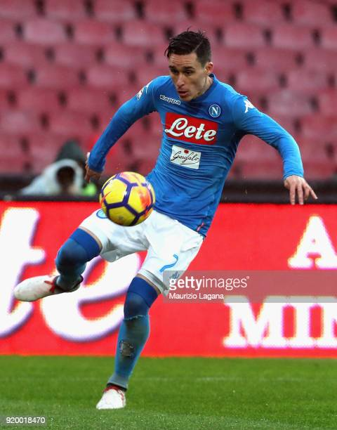 Josè Maria Callejon of Napoli during the serie A match between SSC Napoli and Spal at Stadio San Paolo on February 18 2018 in Naples Italy