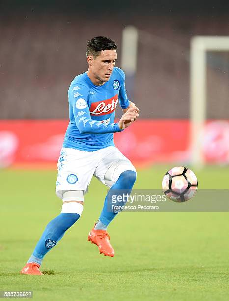 Josè Maria Callejon of Napoli in action during the preseason friendly match between SSC Napoli and OGC Nice at Stadio San Paolo on August 1 2016 in...