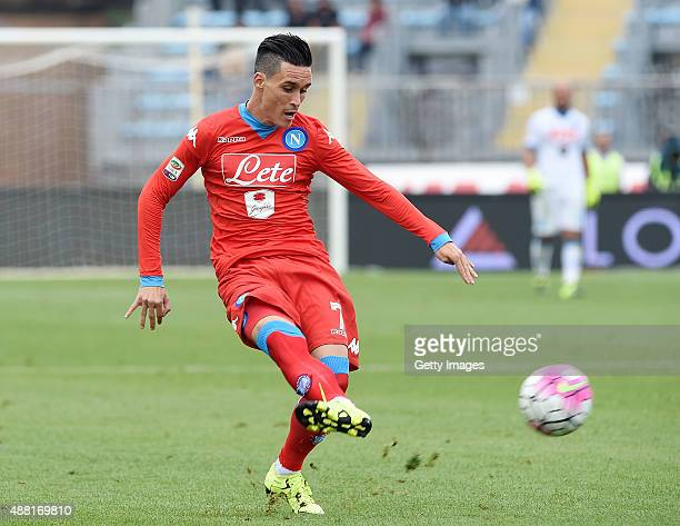 Josè Maria Callejon of Napoli in action during the Serie A match between Empoli FC SSC Napoli at Stadio Carlo Castellani on September 13 2015 in...