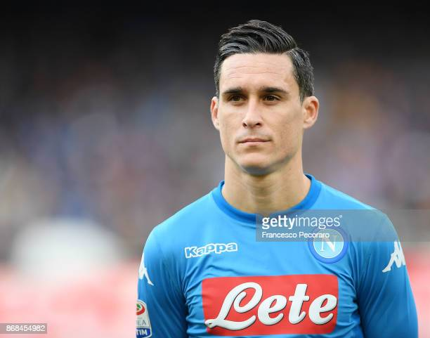 Josè Maria Callejon of SSC Napoli during the Serie A match between SSC Napoli and US Sassuolo at Stadio San Paolo on October 29 2017 in Naples Italy