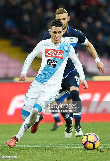 Josè Maria Callejon of SSC Napoli in action during the Serie A match between SSC Napoli and Pescara Calcio at Stadio San Paolo on January 15 2017 in...