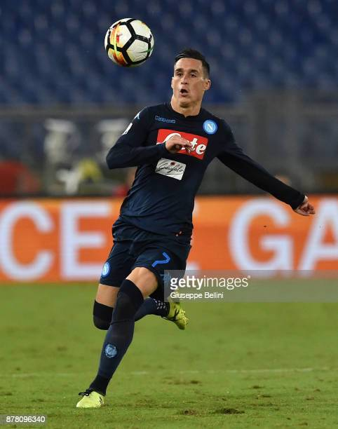Josè Maria Callejon of SSC Napoli in action during the Serie A match between SS Lazio and SSC Napoli at Stadio Olimpico on September 20 2017 in Rome...