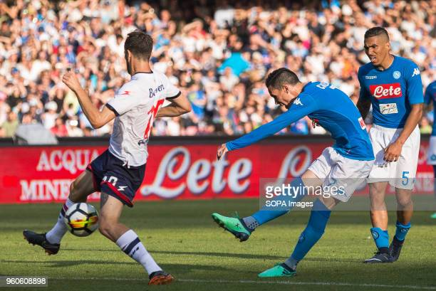STADIUM NAPLES CAMPANIA ITALY José Maria Callejon of SSC Napoli in action during the Serie A football match between SSC Napoli and FC Crotone at San...