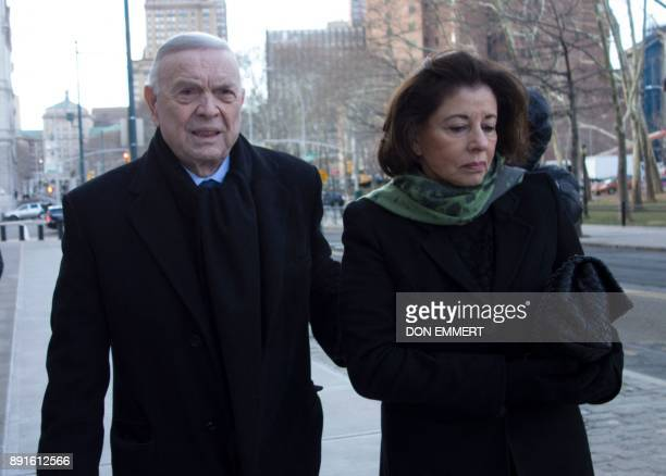José Maria Marin of Brazil one of three defendants in the FIFA scandal arrives at the Federal Courthouse in Brooklyn on December 13 2017 in New York...