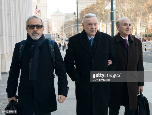 José Maria Marin of Brazilone of three defendants in the FIFA scandal arrives at the Federal Courthouse in Brooklyn on November 15 2017 in New York A...