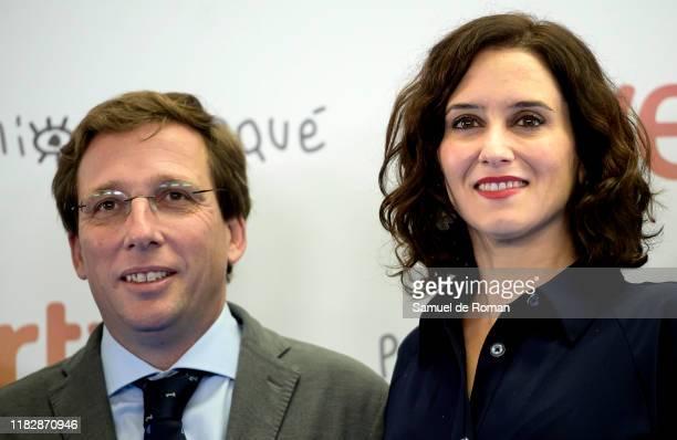 José Martinez Almeida and Isabel Díaz Ayuso attend the Jose Maria Forque Awards presentation on October 23 2019 in Madrid Spain