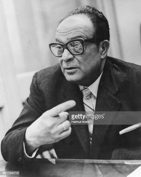 José Miró Cardona President of the Cuban Revolutionary Council makes a statement in New York City on the Bay of Pigs Invasion in Cuba 25th April 1961