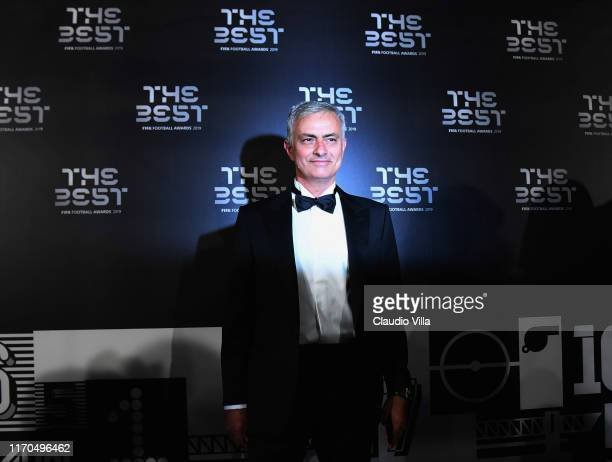 José Mourinho attends The Best FIFA Football Awards 2019 at the Teatro Alla Scala on September 23 2019 in Milan Italy